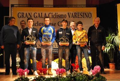 Di Rocco e Santaromita al Gala del ciclismo varesino