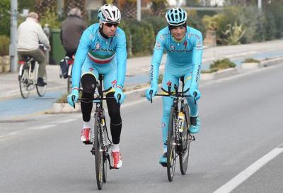Tirreno-Adriatico: Nibali e Scarponi in ricognizione per la crono