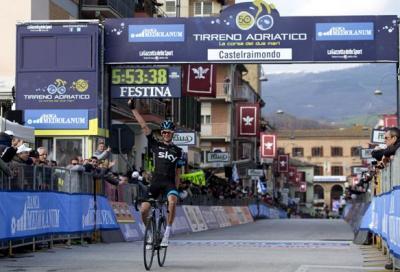 Tirreno Adriatico: Poels, la prima tappa di montagna è sua