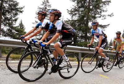 Scalata al Gavia con Contador