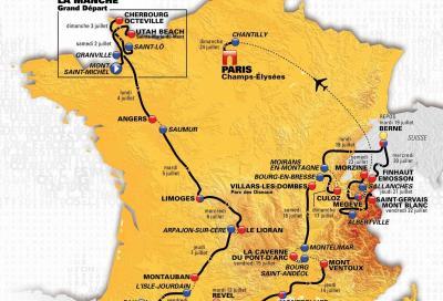 The route of the Tour de France 2016