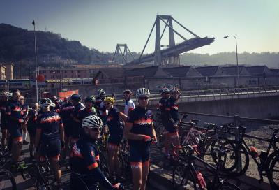La solidarietà pedala con Genova