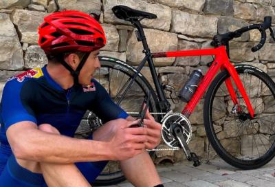 Marc Marquez si allena in bicicletta per il ritorno alla MotoGp