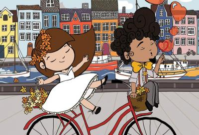In bicicletta da Berlino a Copenaghen... per convolare a nozze