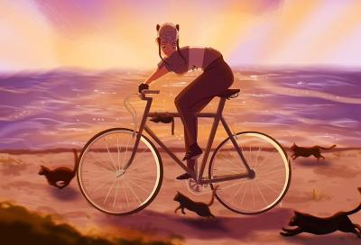 Verdiana, l'artista che racconta le donne in bicicletta, sognando un film in stile Disney
