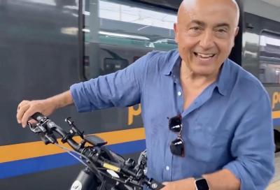 Andare la mare con la bicicletta sul treno, è la cosa più