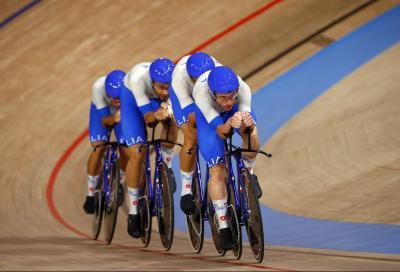 Con Ganna una Italia mostruosa nell'inseguimento a squadre di ciclismo su pista