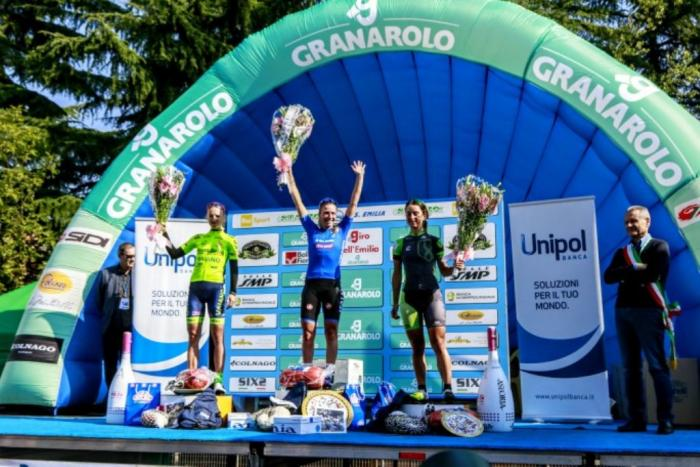 Il podio: 1. Tatiana Guderzo; 2. Leleivyte Rasa; 3. Rossella Ratto.
