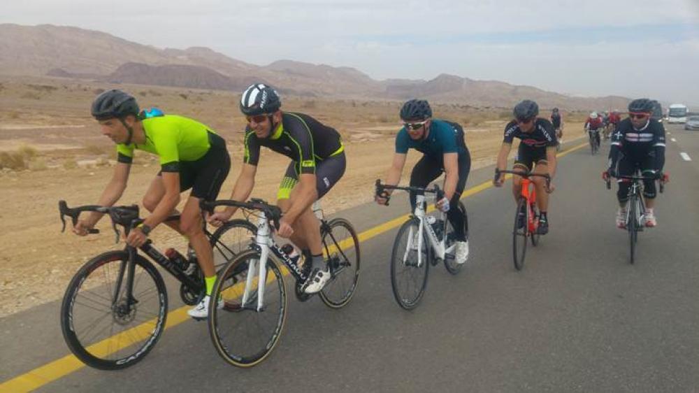 Da sinistra: Alessandro Ballan, Andrea Tafi, Paolo Savoldelli, Maurizio Fondriest, Gilberto Simoni. Crediti a Israeli Cycling Federation