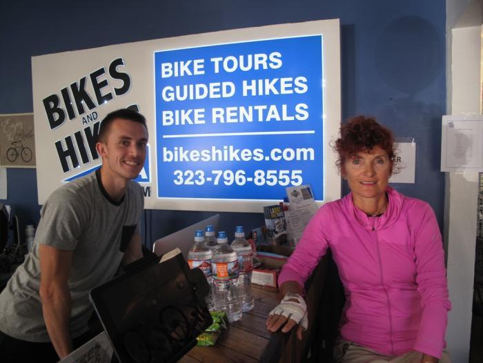 """Gli operatori di """"Bikes and Hikes LA"""" hanno preparato un tour di 54 km per 420 m di dislivello da veri cicloamatori"""